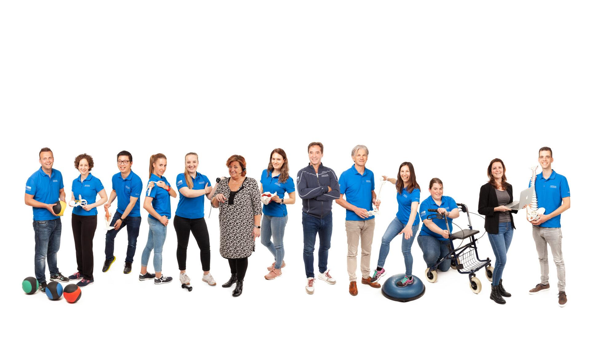 Samengestelde teamfoto Fysiotherapie