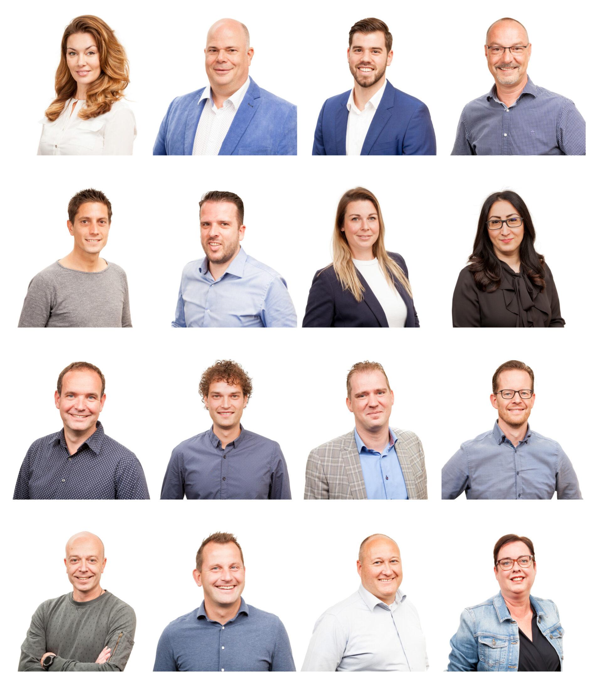 Profielfoto's van een verkoopkantoor.